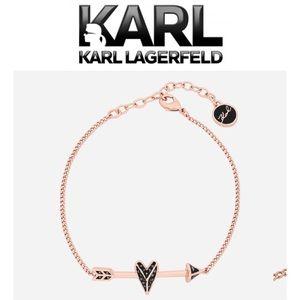 KARL LAGERFELD HEARTS AND ARROWS BRACELET